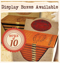 Display boxes of 10 available